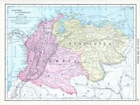 Colombia and Venezuela, World Atlas 1913