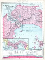 Isthmus of Panama, World Atlas 1913