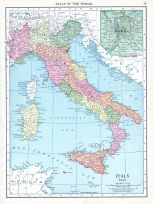 Italy, Atlas: World Atlas 1913, Historical Map