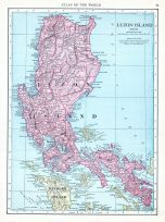 Luzon Island, World Atlas 1913