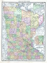 Minnesota, World Atlas 1913