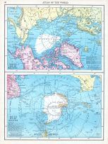North and South Polar Regions, World Atlas 1913