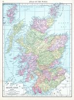 Scotland, World Atlas 1913