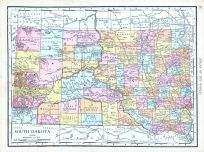 South Dakota, World Atlas 1913