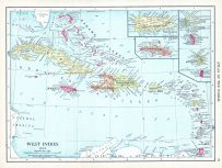 West Indies, World Atlas 1913