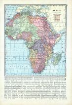Africa, World Maps 1906 from Wellington County Canada Atlas