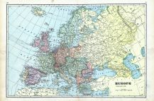 Europe, World Maps 1906 from Wellington County Canada Atlas