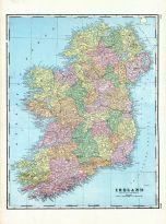Ireland, World Maps 1906 from Wellington County Canada Atlas