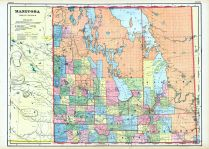 Manitoba, World Maps 1906 from Wellington County Canada Atlas