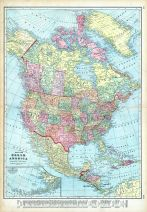 North America Map, World Maps 1906 from Wellington County Canada Atlas