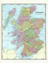 Scotland, World Maps 1906 from Wellington County Canada Atlas