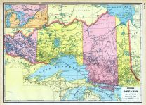 Upper Ontario, World Maps 1906 from Wellington County Canada Atlas