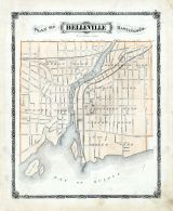 Map Of Belleville Ontario Belleville, Atlas: Hastings and Prince Edwards Counties 1878